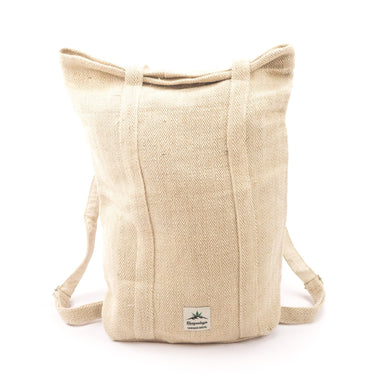 Hemp 2 in 1 bag, backpack, multi purpose, tote backpack, grocery bag, shoulder bag, shopping bag, eco friendly, sustainable, vegan - Bag - Hempalaya