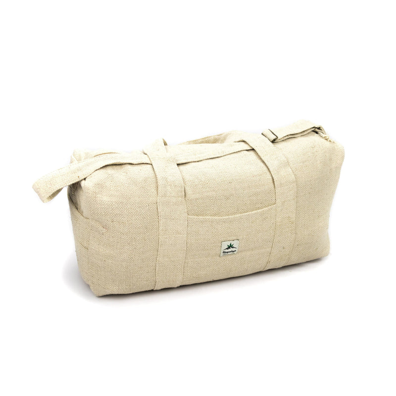 Hemp sports bag, travel bag, weekender, natural - Hempalaya