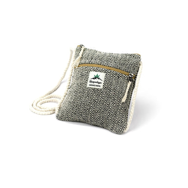 Hemp neck pouch, black - Hempalaya