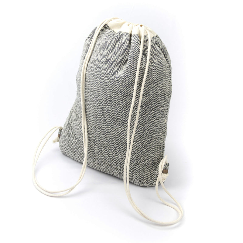 Drawstring bag black - Bag - Hempalaya
