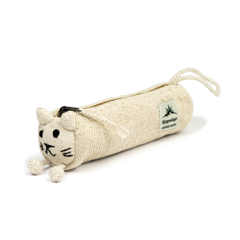Hemp animal pencil case, cosmetic pouch, natural - Hempalaya