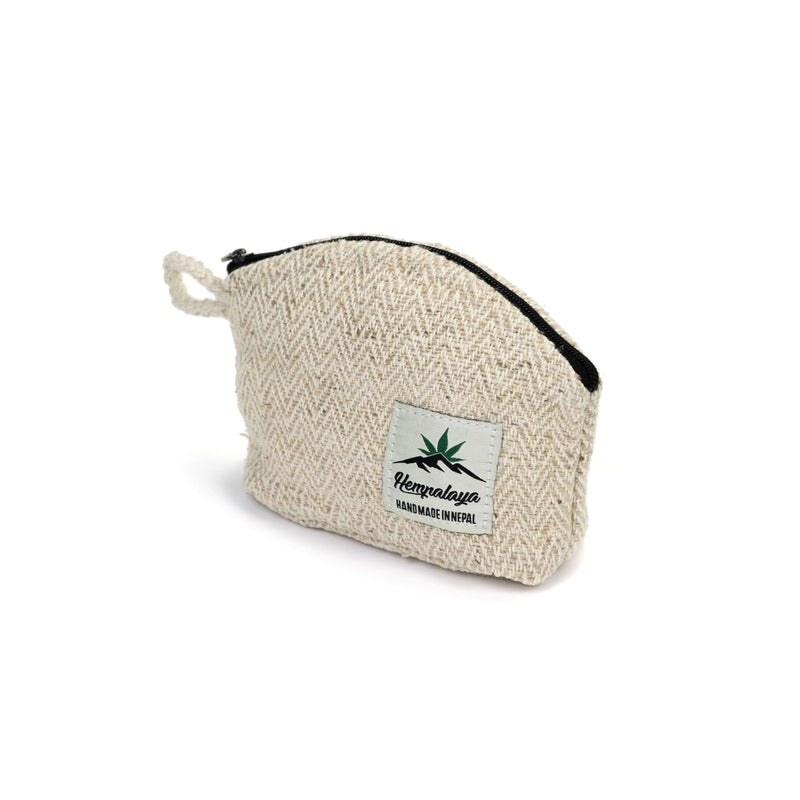 Hemp coin purse, change purse, natural - Hempalaya