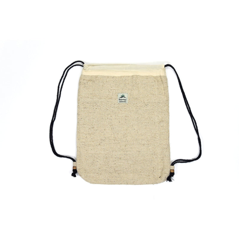 Hemp drawstring bag, natural - Hempalaya