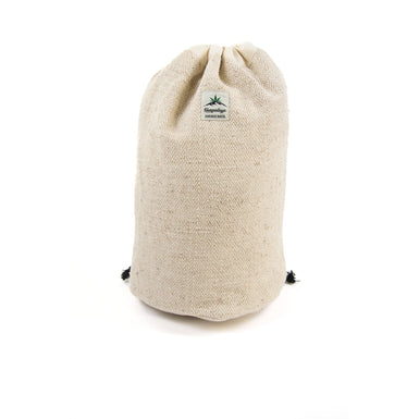 Hemp round bottom duffle bag, natural - Hempalaya