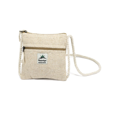 Hemp neck pouch, natural - Hempalaya