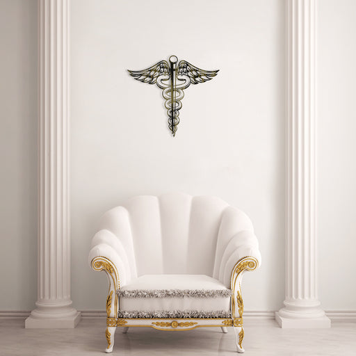 Caduceus Metal Tablo - APT226 - Eskitme