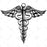 Caduceus Metal Tablo - APT226 - Siyah