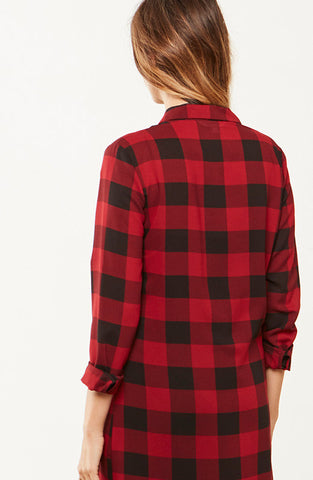 BB Dakota Dunkirk Plaid Shirt Dress - Dolcetti - 3