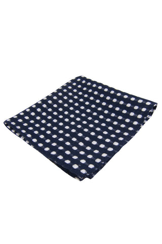 Dibi Navy Polka Dot Pocket Square - Dolcetti