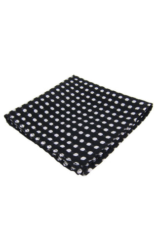 Dibi Black Polka Dot Pocket Square - Dolcetti