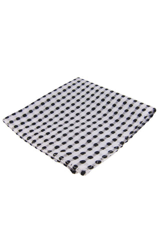 Dibi White Polka Dot Pocket Square - Dolcetti