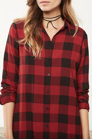 BB Dakota Dunkirk Plaid Shirt Dress - Dolcetti - 2