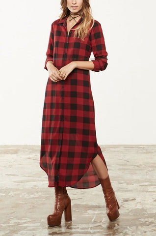 BB Dakota Dunkirk Plaid Shirt Dress - Dolcetti - 1