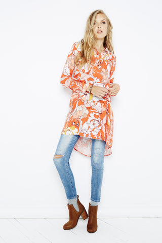 MINKPINK Orange Blossom Shirt Dress - Dolcetti - 1
