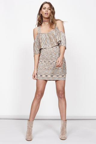 MINKPINK White Noise Cold Shoulder Dress