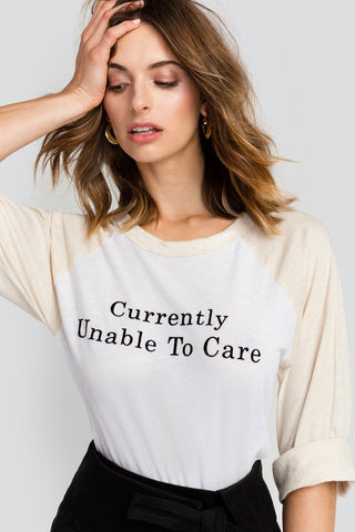 Wildfox Unable To Care Rebel Raglan