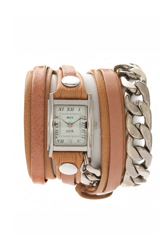 La Mer Collections Silver Malibu Chain Wrap Watch - Dolcetti