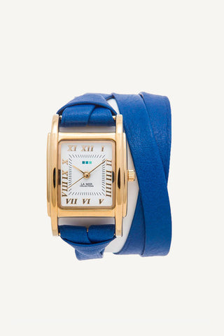 La Mer Collections Milwood Wrap Watch in Blue - Dolcetti