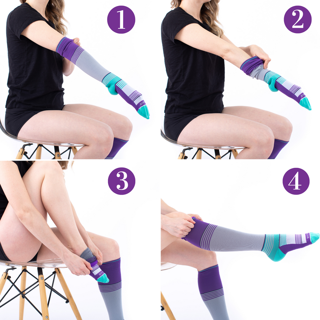 how to wear compression socks