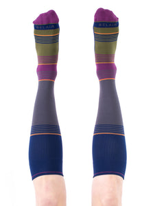 IRIS Solid Stripes Compression Socks