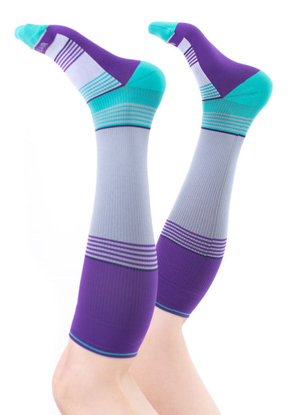 AQUA Solid Stripes Compression Socks