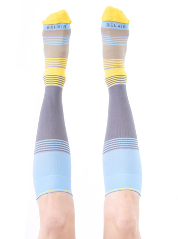 LEMON Solid Stripes Compression Socks