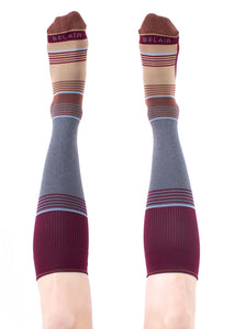 RUST Solid Stripes Compression Socks
