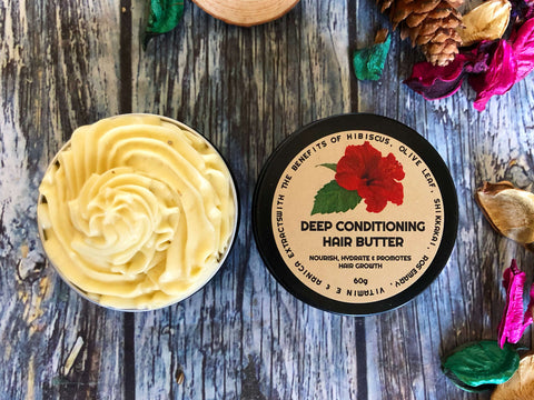 DEEP CONDITIONER HAIR BUTTER WITH HIBISCUS, SHIKKAKAI & ARNICA EXTRACTS