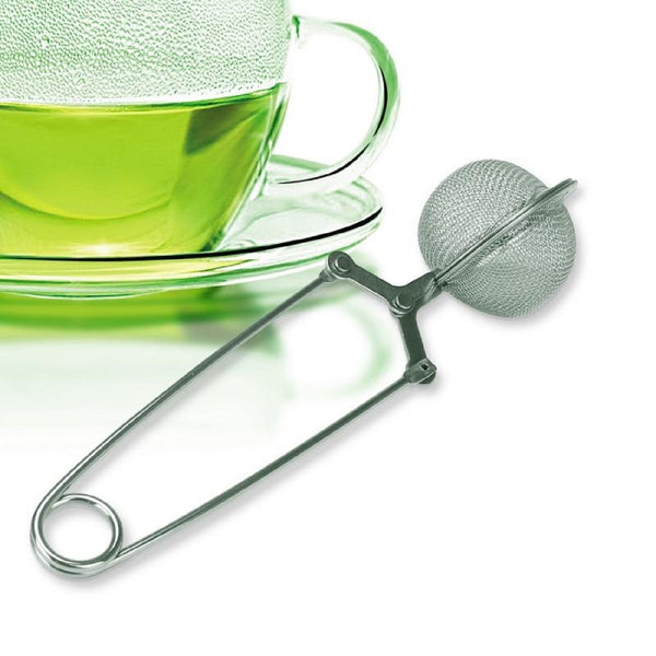 EcoBuddy Pincer Ball Shaped Stainless-Steel Loose-Leaf Tea Infuser/Strainer with Squeeze Handle l Super Fine Mesh (small)