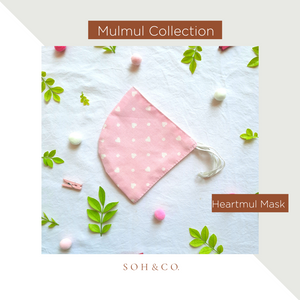 SOH & CO. MULMUL COLLECTION HEARTMUL MASK