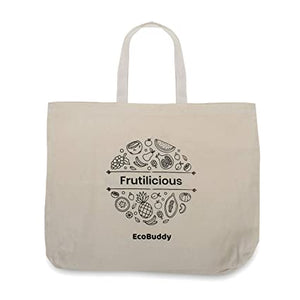 EcoBuddy Reusable Cotton Vegetable Bag (Pack of 2)