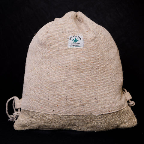 Pouchful Hemp & Cotton 15 inch Drawstring Backpack (Plain)