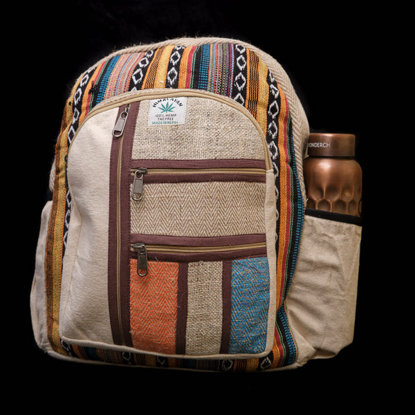 Pouchful Hemp & Cotton 15 inch Laptop Bag (Multicoloured)