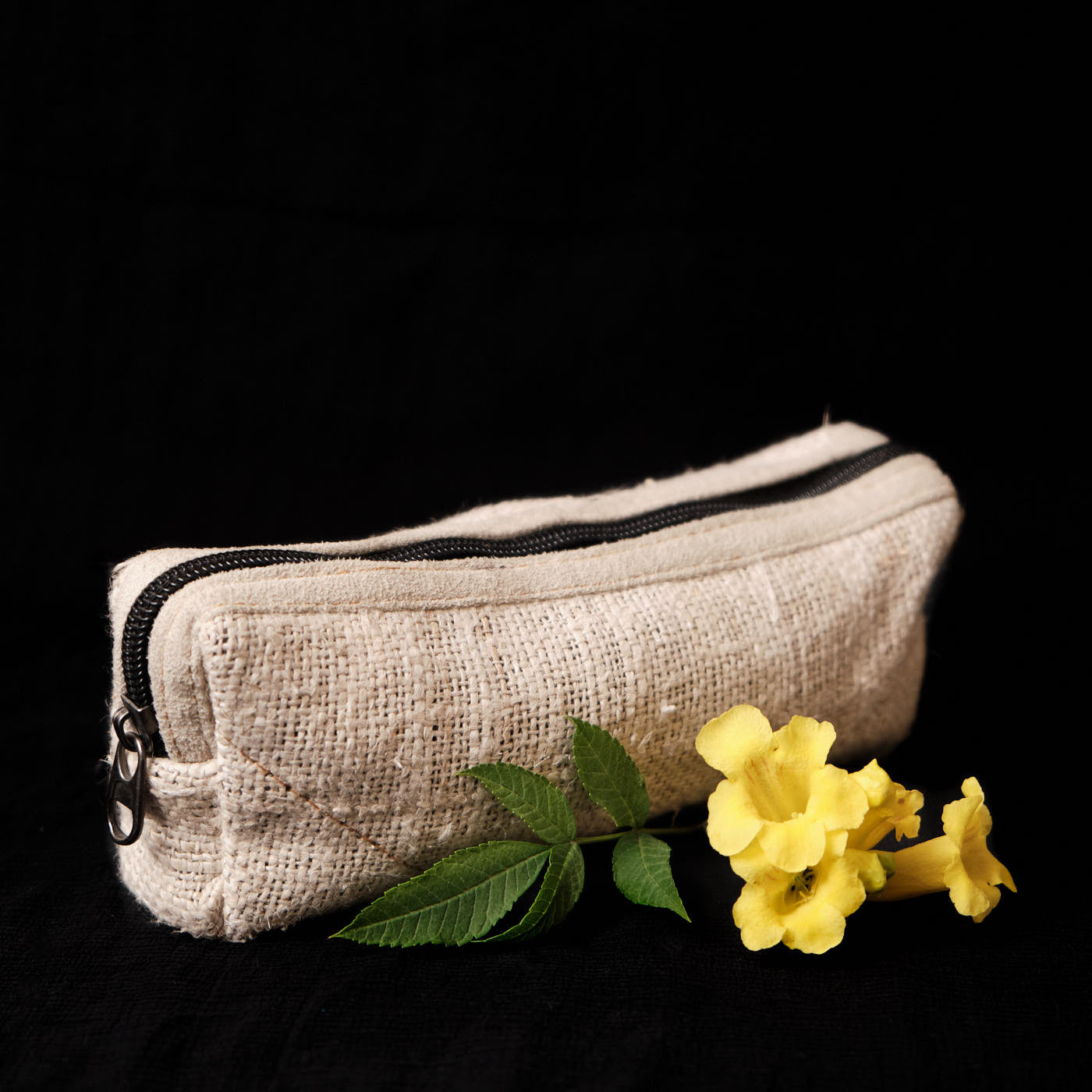Pouchful All Hemp Handmade Pencil Pouch (Beige)
