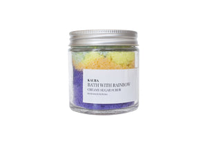 Bath With Rainbow Body Scrub
