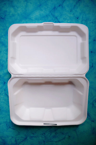 Bagasse clamshell box