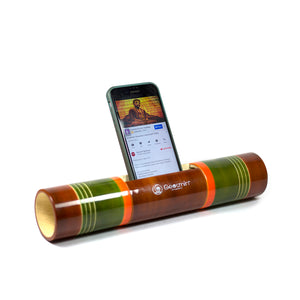 Electricity-Free Natural Ivory Wood Speaker/ Amplifier - Classic Conical Transition - Multicoloured