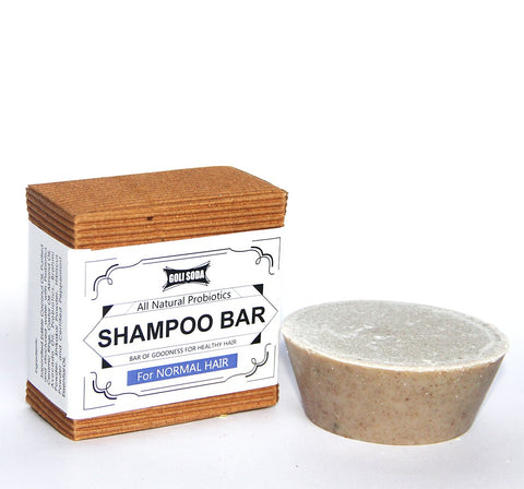 GOLI SODA All Natural Probiotics Shampoo Bar For Normal Hair (Pack Of 2)