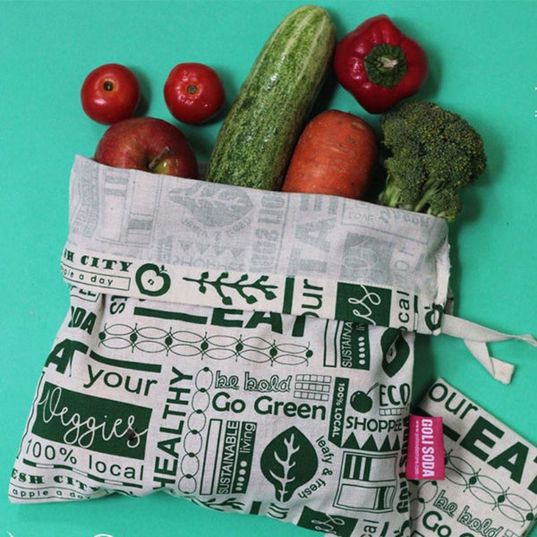 GOLI SODA Go Green Reusable Cotton Vegetable Bag