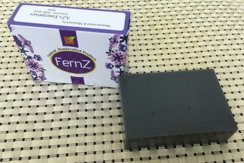 Fernz naturals charcoal soap bar (Pack of 2) + Free neem tulsi soap