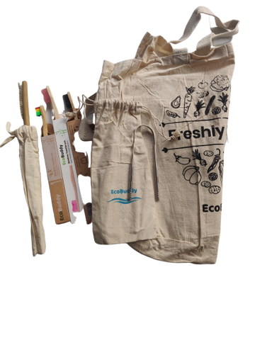 Ecobuddy Zerowaste Kit Combo + Free Straw with Cleaner