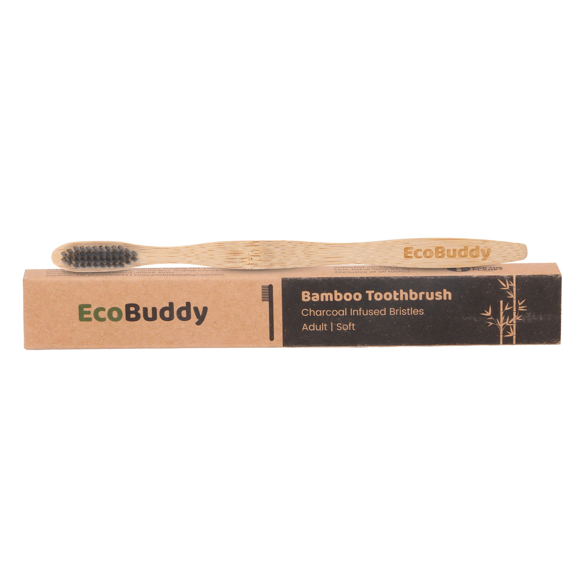 EcoBuddy Bamboo toothbursh (Family Pack of 4)