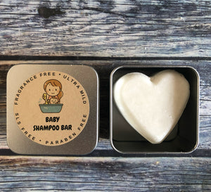 BABY SHAMPOO BAR WITH VITAMIN E, UNSCENTED (Lasts 250 washes)
