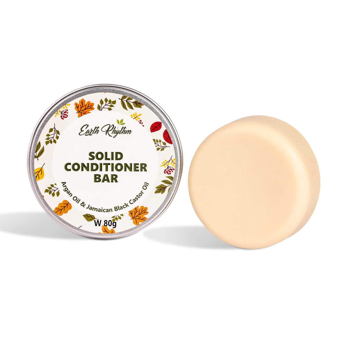 SOLID CONDITIONER BAR - ARGAN & BLACK CASTOR OIL - WITH TIN