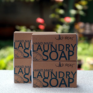 Natural Hand-Made Laundry Bar Soap (Pack of 4 X 100 gms)