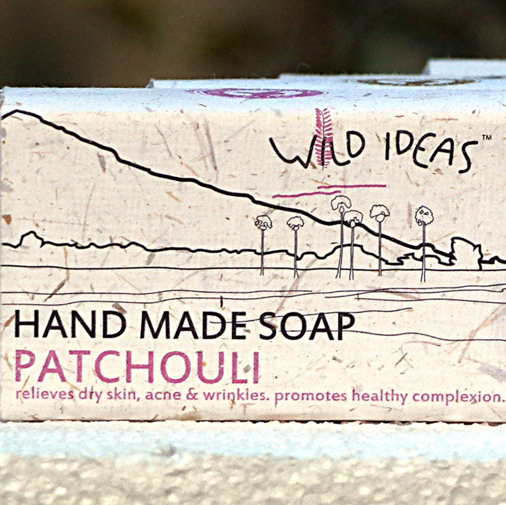 Wild Ideas Hand Made Soap - Patchouli (Pack of 4)