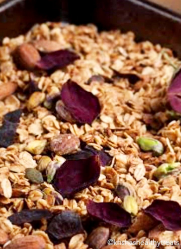 Krisha's Healthy Treats Rose Pistachios Granola