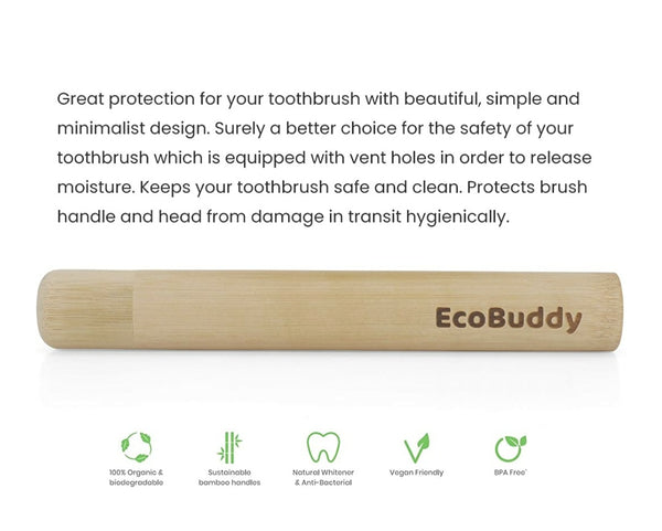 Ecobuddy Bamboo Toothbrush Case
