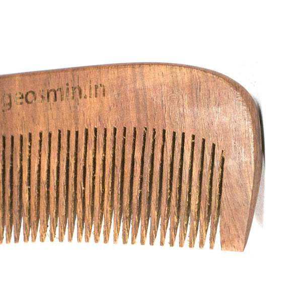 Handcrafted Sheesham Wood Getset Comb (Pack of 2) and Bamboo Straw Free