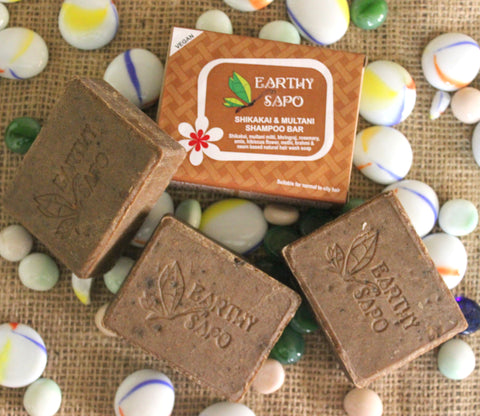 Earthy Sapo Shikakai and Multani Shampoo Bar